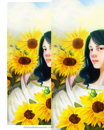 sunflower painting, fine art painting, painting flowers, vanessa bettencourt art, art , drawing, painting, portrait, painting sunflowers