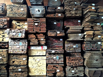 Lumber, boules, planks, warehouse, Max Cropp Hamburg, Germany
