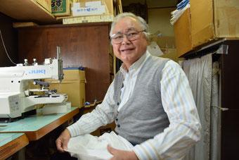 吉祥寺中道通りのオーダーワイシャツのオーナーの若林昭雄