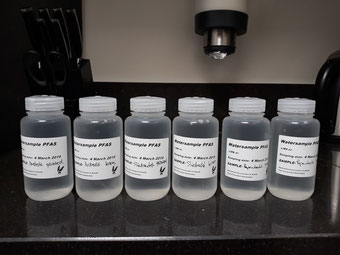Bemonstering door het chemisch/toxicologisch laboratorium van de de VU Amsterdam