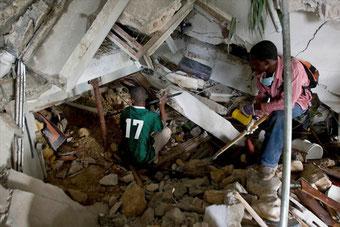 Casa destruida durante el último gran terremoto de Haití. / ONU
