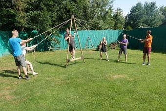 Teambuilding in einem unserer Kletterparks, Teamtrainings, Teamentwicklung, teamevent.de, Teamevent, Firmenevent, Betriebsausflug, Schnurstracks, Teambuilding