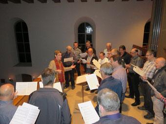 Vorprobe in der Kirche Wittnau an Heiligabend.