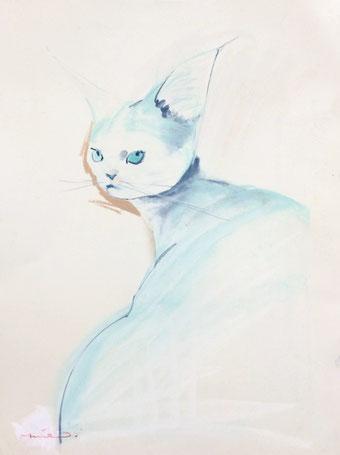 猫 パステル画 パステル画教室 ノラ 猫の絵