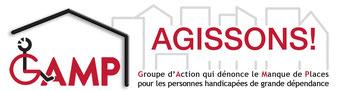 Logo du GAMP (Groupe d'Action qui dénonce le Manque de Places pour les personnes handicapées de grande dépendance)