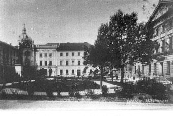 Kaiserhalle am Wilhelmsplatz, bevorzugter Versammlungsort der Gewerkschaften und Sozialdemokraten.  Stadtarchiv Göttingen