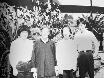 Charles Zhang and his wife visiting Charles parents Chang Pao Cun and Fang Huiqin in Shanghai.  (photo provided by Charles Zhang)