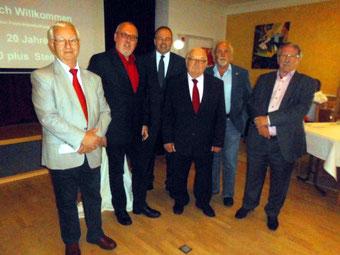 vl: Dieter Pohl, Ernst-Wilhelm Rahe, Ralf Niermann,  Günter Bohne,  Peter-Uwe Witt und Walter Cremer