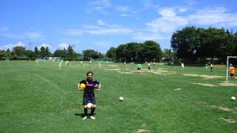 サッカーの試合2012