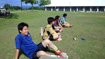 サッカーの練習試合2013