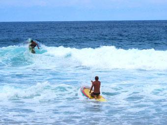 die Wellen waren mehr 3 m hoch und lang auslaufend