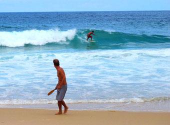 die Surfer hatten hier ein ideales Revier
