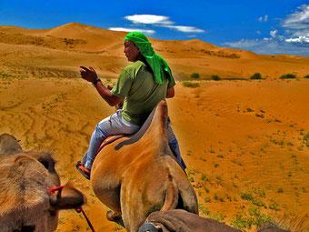 Baldoo machte auch auf dem Kamel eine gute Figur