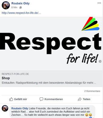 Pressebericht über Respect for life Trikots