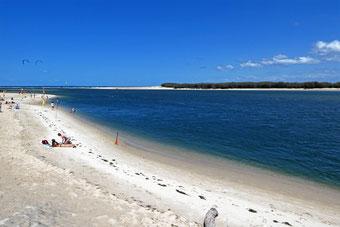 Bribie Island viewed from Bulcock Beach