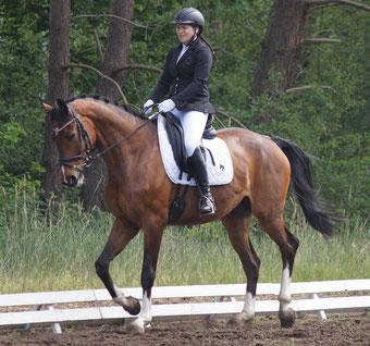 """Elisa Heinke aus Osterweddingen sagt: """"Es kommt auch darauf an, welches Pferdematerial ein Sportler zur Verfügung hat."""" Foto: Alpha-Report"""