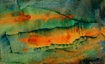 Evasion - Encaustic Wax Painting - by Anne Berendt