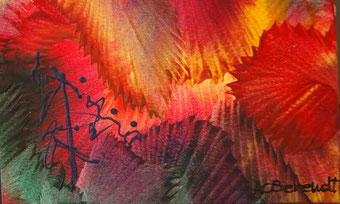 Bright Foliage - Encaustic Wax Painting - by Anne Berendt
