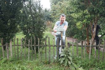 Die Garten Tulln mit Karl Ploberger als Pappschild