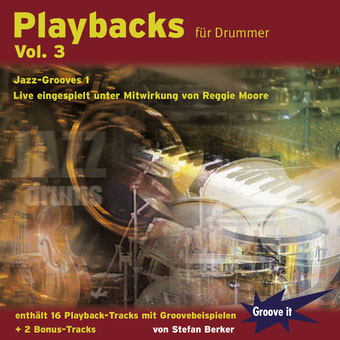 Playbacks für Drummer Vol. 3 - Jazz Grooves 1 von Stefan Berker