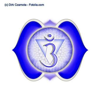 Das indische Symbol zum Stirnchakra Ajna Chakra