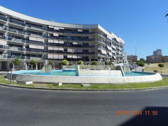 Contrucción en huelva de rotonda y fuente en Calle Baleares. Teconuba