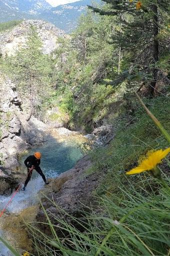 canyoning briançon serre chevalier canyon tramouillon bas