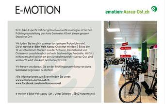 Mitaussteller bei der Auto Germann AG: Freitag, 27. April bis Sonntag, 29. April 2018