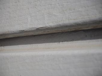 boursoufflures du revêtement du bradage en particules de bois agglomérées et compressées   type Werzalit Heritage