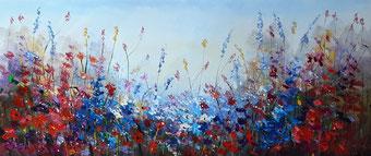 Schilderij veldbloemen