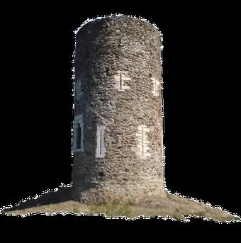 La Tour de Goa /  XIIe siècle  /  Tour de guet et à signaux... l'Internet de l'époque, en mieux bien entendu...