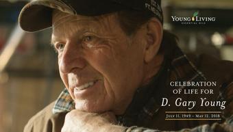 Gründer Gary Young, Young Living, Begräbnis