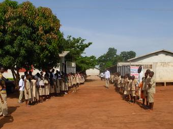 Empfang in der Bethléem-Ecole in Tokan