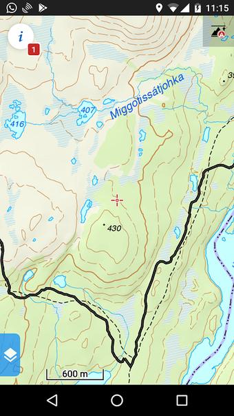 Kartenausschnitt (Statkart.No) in Locus Maps