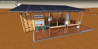 MDD - Le Module de Développement Durable de WAZZAJ, véritable lieu de vie et de communication en site isolé.