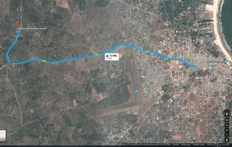 Die Maziwani Schule ist ca. 8 Kilometer von Malindi entfernt (zum vergrössern klicken)