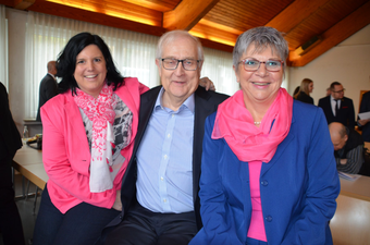 Rainer Brüderle mit MdB Carina Conrad und MdL Helga Lerch