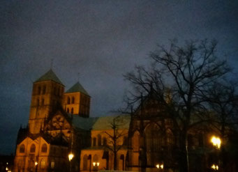 Dom in Münster in a rainy evening. I love this magical atmosphere.