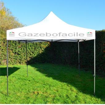 Gazebo con logo GAZEBOFACILE