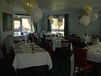 The room laid up for a family function.
