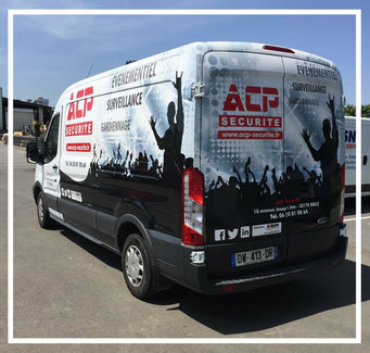 Le fourgon de acp securite