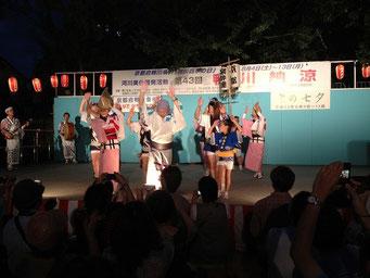 2012年鴨川納涼  楽酔連のオンステージ!