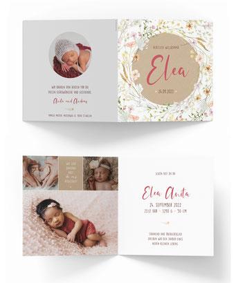Geburtskarte mit Sternen Geburtsanzeige Schweiz