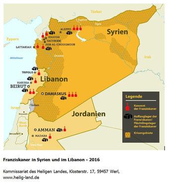 Franziskaner in Syrien und Libanon 2016