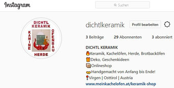 dichtlkeramik Instagram Seite