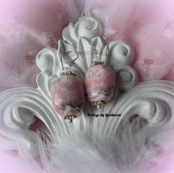 Ohr Schmuck Hänger rosa