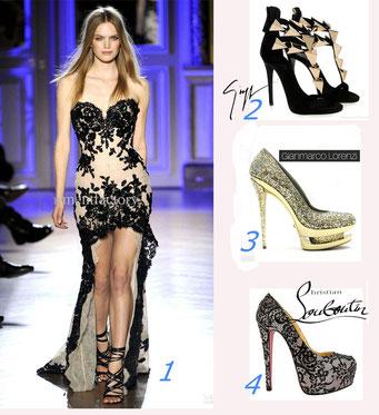 Какие выбрать туфли, босоножки под платье