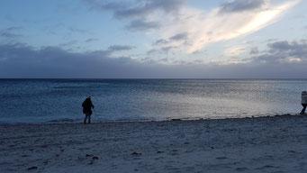 Grömitz Strand und Abenddämmerung