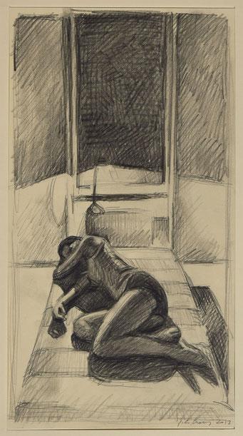 philipp christoph haas | studie zur serie 'interieur' bleistift auf papier, 2013