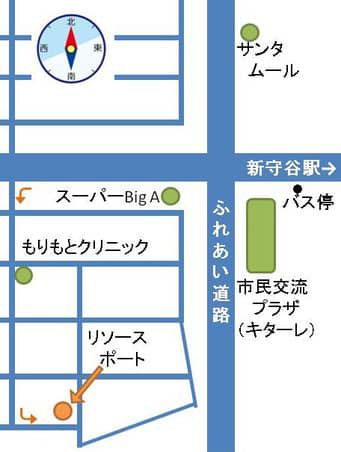 リソースポート地図(茨城県守谷市薬師台)